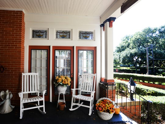 The front porch of Twenty-four Thirty-nine Fairfield 'A Bed and Breakfast' that overlooks Fairfield Ave. in Shreveport.