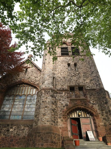 Rose limestone can be seen on the outside of St. Paul's Episcopal Church in Englewood.  The building is a new addition to the National Historic Places registry and is one of the recipients of Bergen County's historic preservation awards. Thursday, May 11, 2017