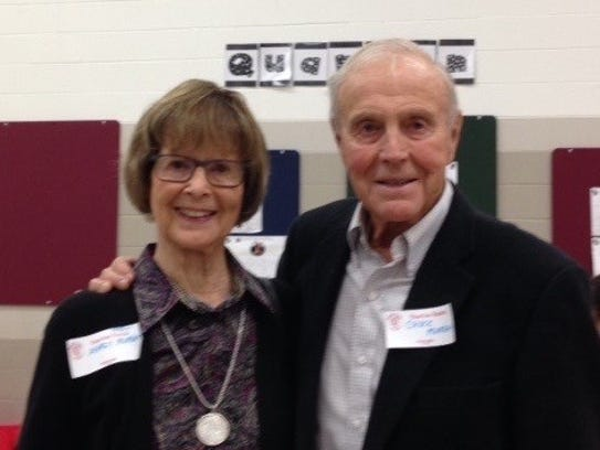 Margy and Chuck Murray visited Quarton to refresh memories