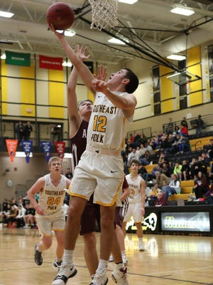 Southeast Polk Rams Luke Williams helps lead the Rams to victory over the Ankeny Hawks.