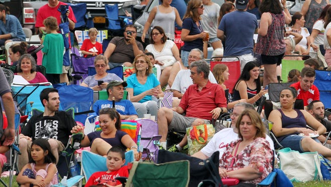 People get ready for the start of the annual Kensico Dam Music Festival and Fireworks display July 3, 2018.