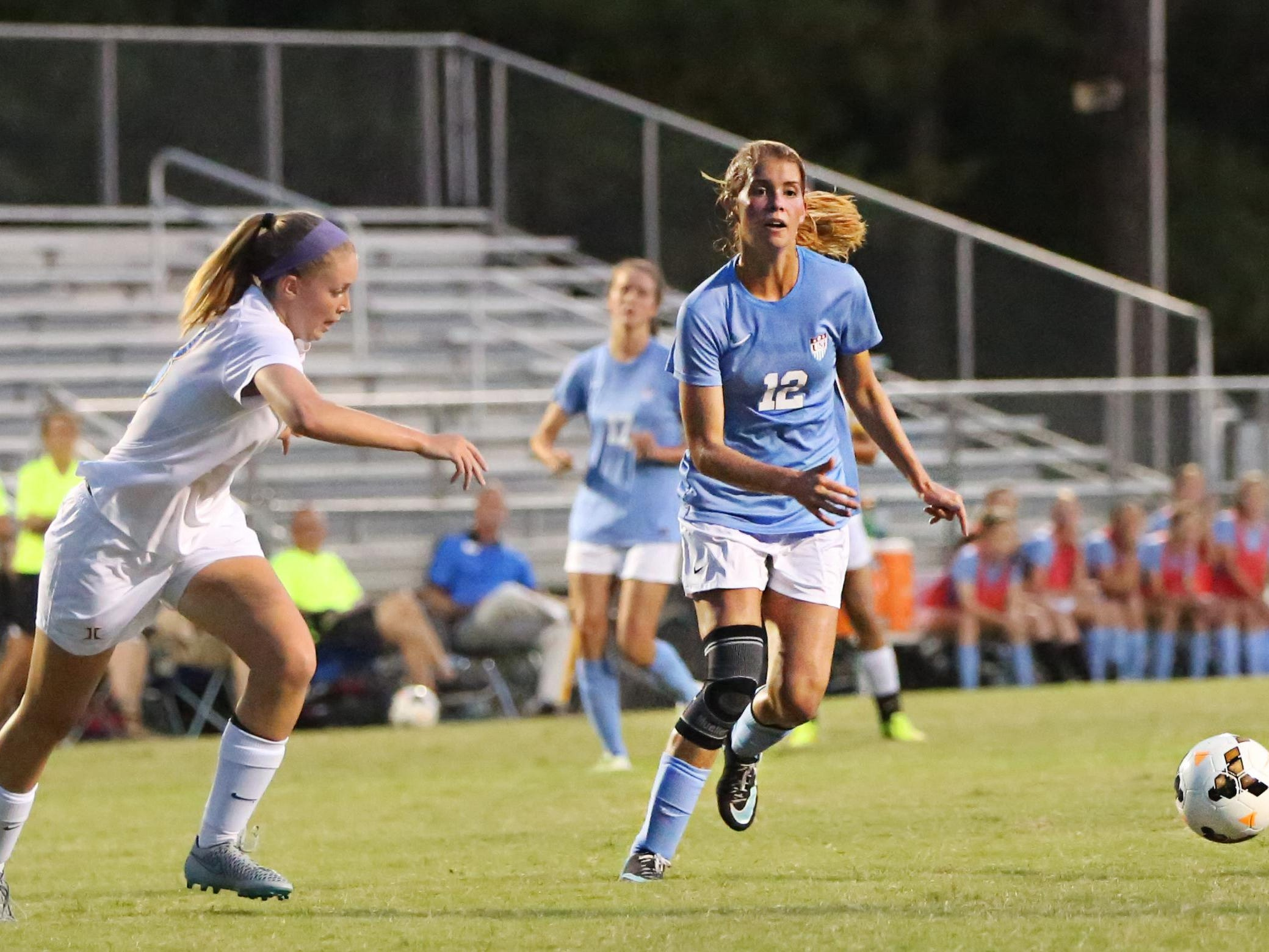 USJ's Abbey Fleming missed almost all of last season with a torn ACL.