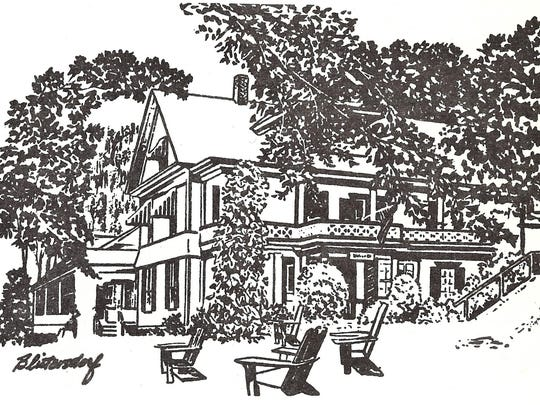 An artistic rendering of the Mount Philo Inn, as used in a 1967 advertisement.