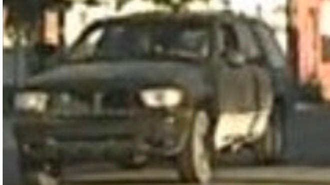 State police are looking for this 2000 flat black Mercury Mountaineer that was involved in a double hit-and-run accident Friday.