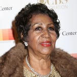 In this Sunday, Dec. 6, 2015 photo, Aretha Franklin attends the 38th Annual Kennedy Center Honors at The Kennedy Center Hall of States, in Washington.
