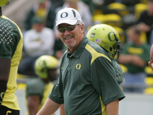 Mike Bellotti: 137-80-2 (63%), Chico State (Calif.) (1984-88) and Oregon (1995-08).