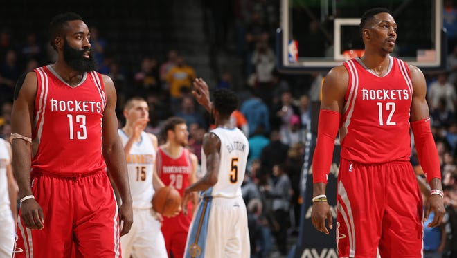 Rockets G James Harden said the Dwight Howard trade rumors haven't been a distraction.
