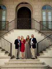 Brian and Denise Cobb  with Valerie and Jeff Gargiulo at the Cobbs' home in Naples.