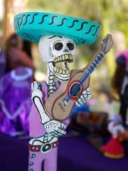 A skeleton figure at the annual Dia de los Muertos