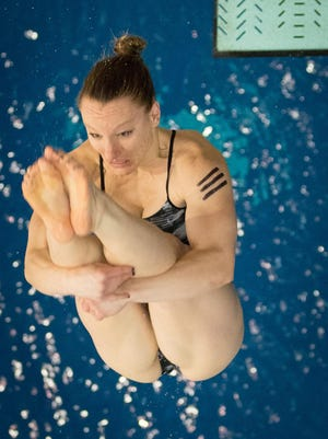 """""""I kind of just fell into the sport,"""" Lauren Reedy says of diving. She will compete in the U.S. Olympic Team Trials this week in Indianapolis."""