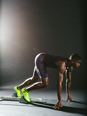 U.S. sprinter Trayvon Bromell will wear New Balance shoes in the Olympics. The company used 3-D printing technology to test configurations to improve traction and energy transfer.