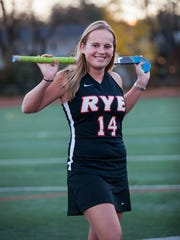 Fusine Govaert is pictured in 2016 after being named The Journal News Westchester/Putnam field hockey player of the year following a 41-goal, 13 assist season in which she became an All-American.