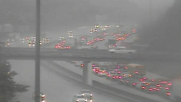 I-71 northbound is closed at Fields Ertel Road on Friday morning due to a semi fire.