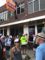 Runners gather outside Hell 'n Blazes Brewing Company