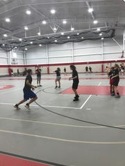 Kids at the Next Level Basketball 419 Camp participate