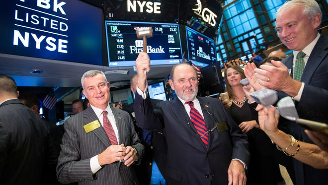 Chris Holmes and Jim Ayers at the New York Stock Exchange