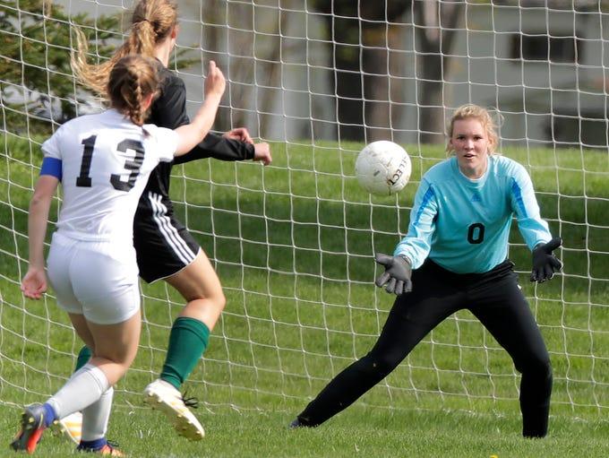 Freedom High School's goal keeper Markie Verhasselt