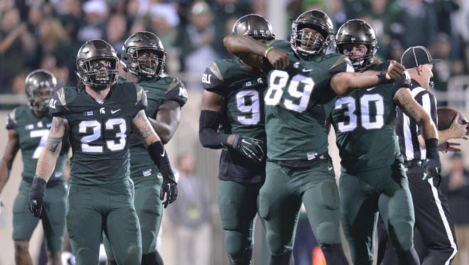 Shilique Calhoun (89) can't wait to get another shot this weekend at Ohio State, one of the reasons he didn't move on to the NFL.