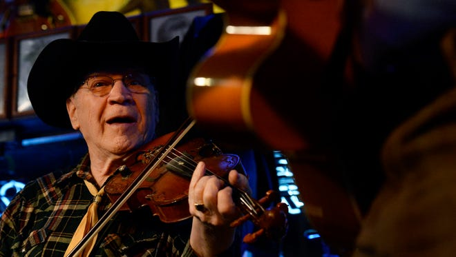 "Gene ""Pappy"" Merritts performs at Robert's Western World on Monday, Jan 11, 2016, in Nashville, Tenn."