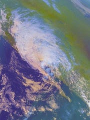 Remnants of Hurricane Nora over the Southwest United