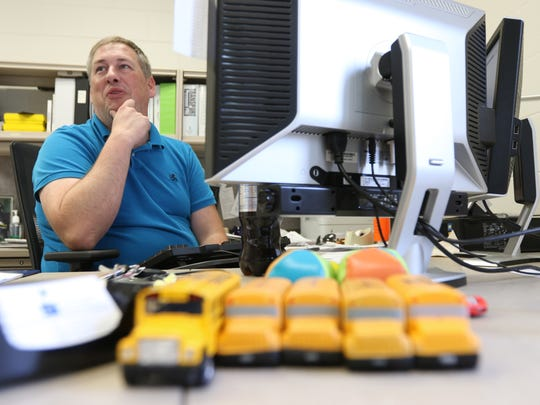 Bradley Carriveau, district transportation director, in his office in Stevens Point, August 16, 2016.