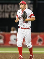Cajuns closer Dylan Moore comes in for relief appearance