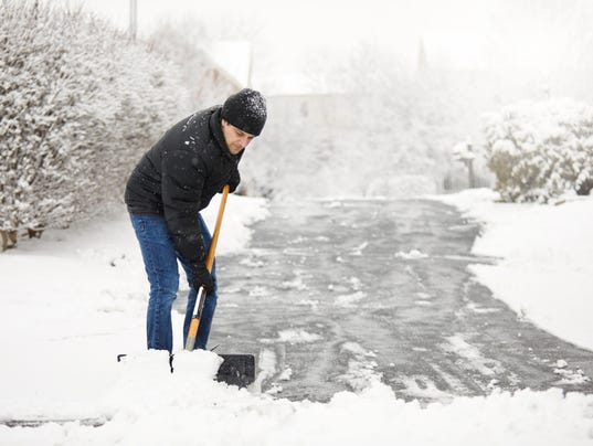Shoveling Snow From The Driveway