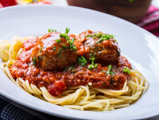 Meat balls. Italian and Mediterranean cuisine. Meat balls with s