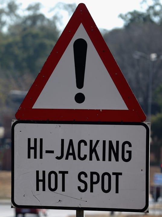 carjacking sign