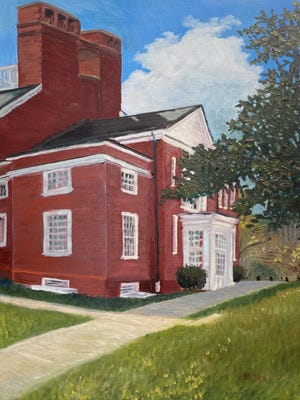 """""""Danforth,"""" an oil on canvas by Lee Ball, is one of the artworks in the auction."""
