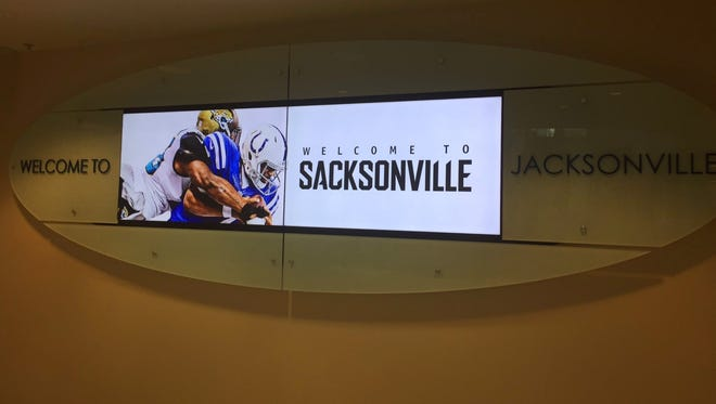 The Jacksonville International Airport trolled the Colts before the teams met for a game Sunday.