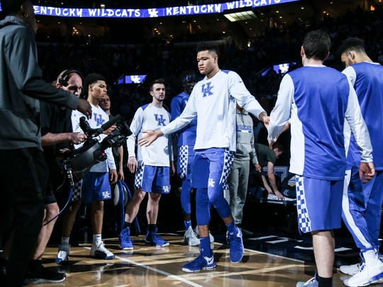 Kevin Knox is introduced before the SEC Championship