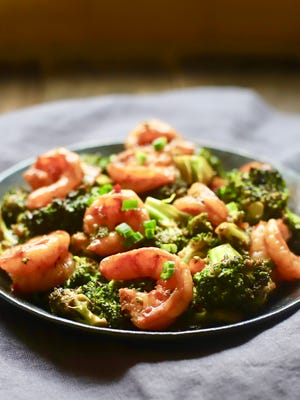 Spicy Shrimp and Broccoli Stir-Fry can be on the table in 15 minutes.