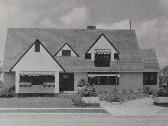 Frank P. Stover and his wife, Mary, built the Tudor