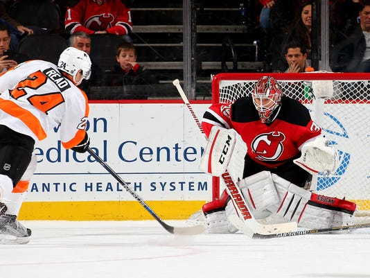 new products 03629 db97a Flyers beat Devils 4-3 in OT for 4th straight win
