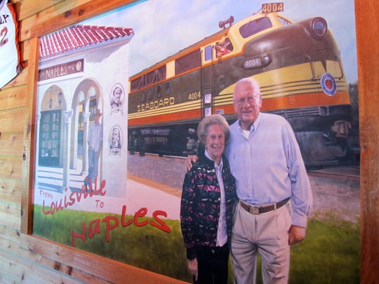 Texas Roadhouse founder Kent Taylor's parents, Powell and Marilyn Taylor, have a seasonal home in Naples and are featured in a painting in the waiting area at the Naples location of Texas Roadhouse, which opened Monday in Restaurant Row along Collier Boulevard at U.S. 41 East.
