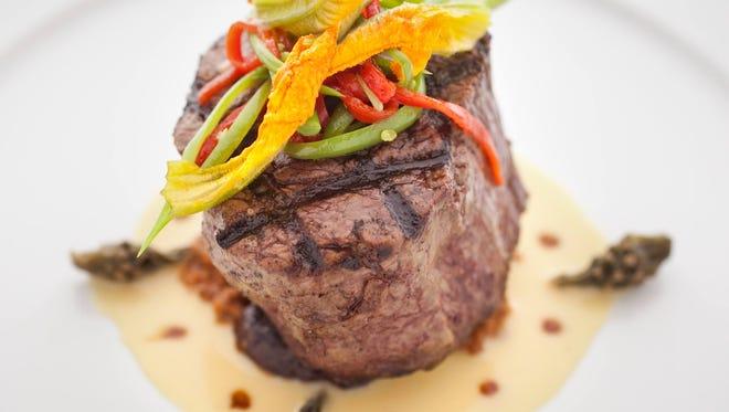The buffalo tenderloin  is a signature dish at Kai.