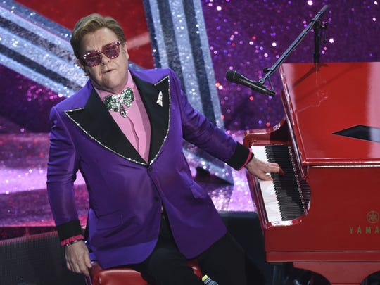 "Elton John is the host for Sunday night's ""FOX Presents the iHeart Living Room Concert for America."""