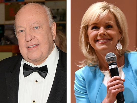 This photo combo of file images shows Fox news CEO