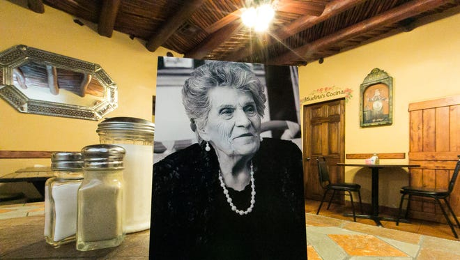 Chope's Bar and Cafe owner Lupe Benavides died Monday at age 98. A picture of her is on display inside the La Mesa restaurant, which doubled as her home.
