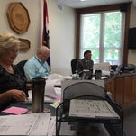 Christian County Commissioners, from left: Sue Ann Childers, Ray Weter and Bill Barnett