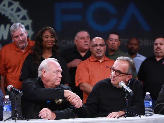 UAW President Dennis Williams and FCA CEO Sergio Marchionne