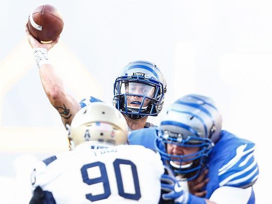 University of Memphis quarterback Riley Ferguson makes