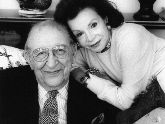 Marjorie Fisher and the late Max Fisher