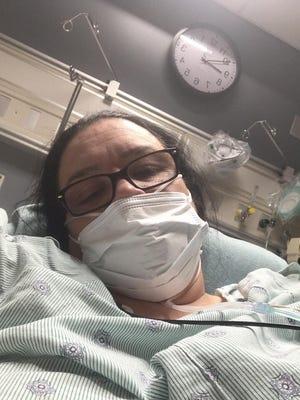 Pauline Chapman, 48, of Newport twice battled the coronavirus.