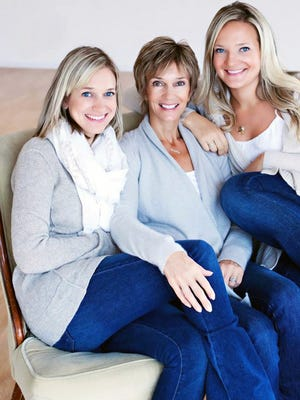 (left to right) Carly, Cyndi and Abby Weis, owners of Breathe