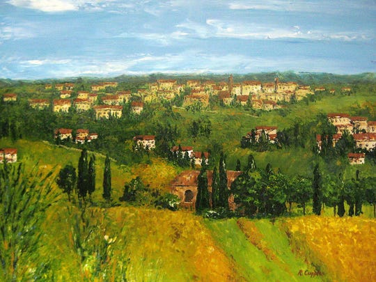 """""""Tuscan Landscape"""" by Rebecca Cupples is among works in the Mississippi Artists' Guild juried exhibition."""