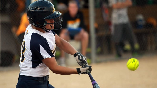 Regina center fielder is hitting a career-high .351 going into Thursday's state tournament semifinal. She was a career .255 hitter her first to seasons of varsity softball.