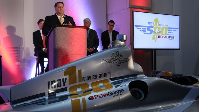 """Indianapolis Motor Speedway officials announced for the first time the Indianapolis 500 will have a presenting sponsor. The 100th running of the race will be called """"The Indianapolis 500 presented by PennGrade Motor Oil"""". Here D-A Lubricant owner and CEO Michael Protogere talks about the new partnership with IMS."""