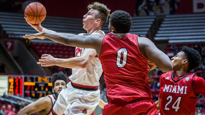 Ryan Weber was one of three Ball State players to score 17 points at Buffalo on Saturday. (File photo)